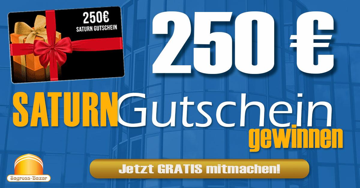 250 EUR Saturn Gutschein gewinnen