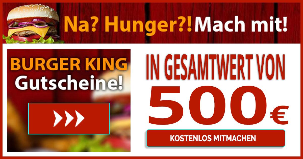 Burger King Gutschein 500EUR